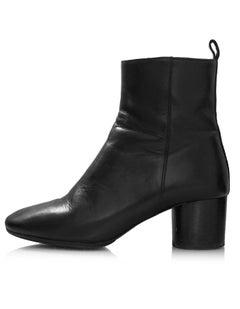 Etoile Isabel Marant Black Leather Deyissa Ankle Boots Sz 36 with Box