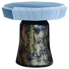 Etoile Side Table in Gesso and Gilt Lacquer by Elan Atelier