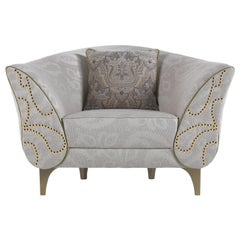 Etro Home Interiors Agra Armchair in Fabric and Wood