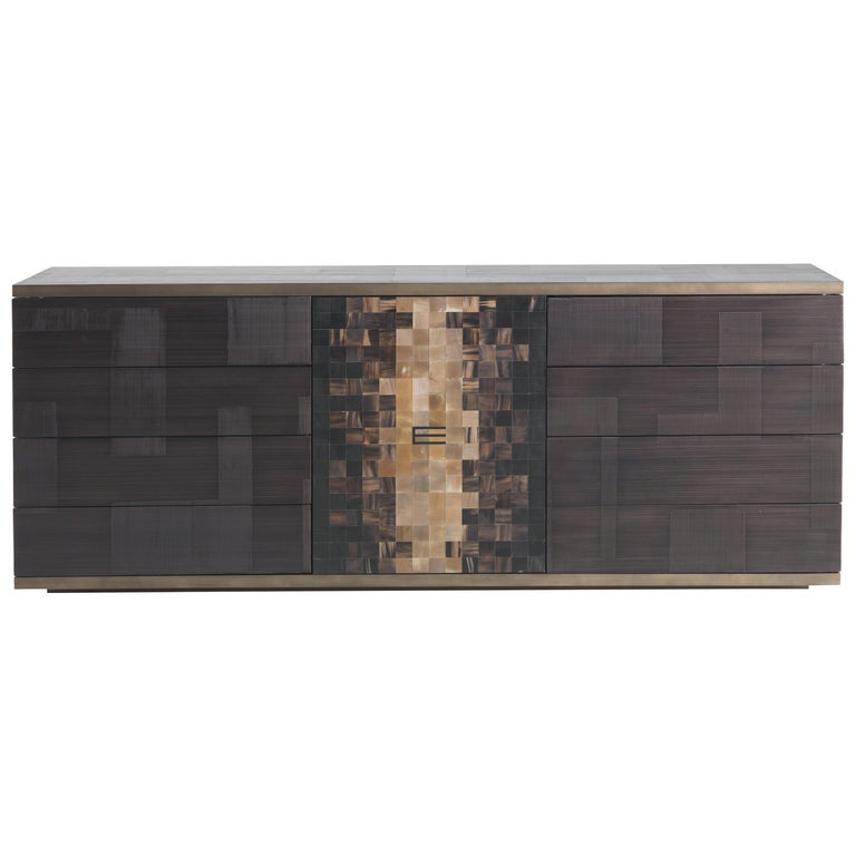 Etro Aleppo Sideboard in Wood and Fabric For Sale