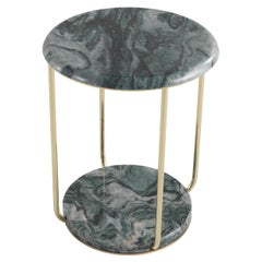 Etro Home Interiors Ambar Small Table in Marble and Brass