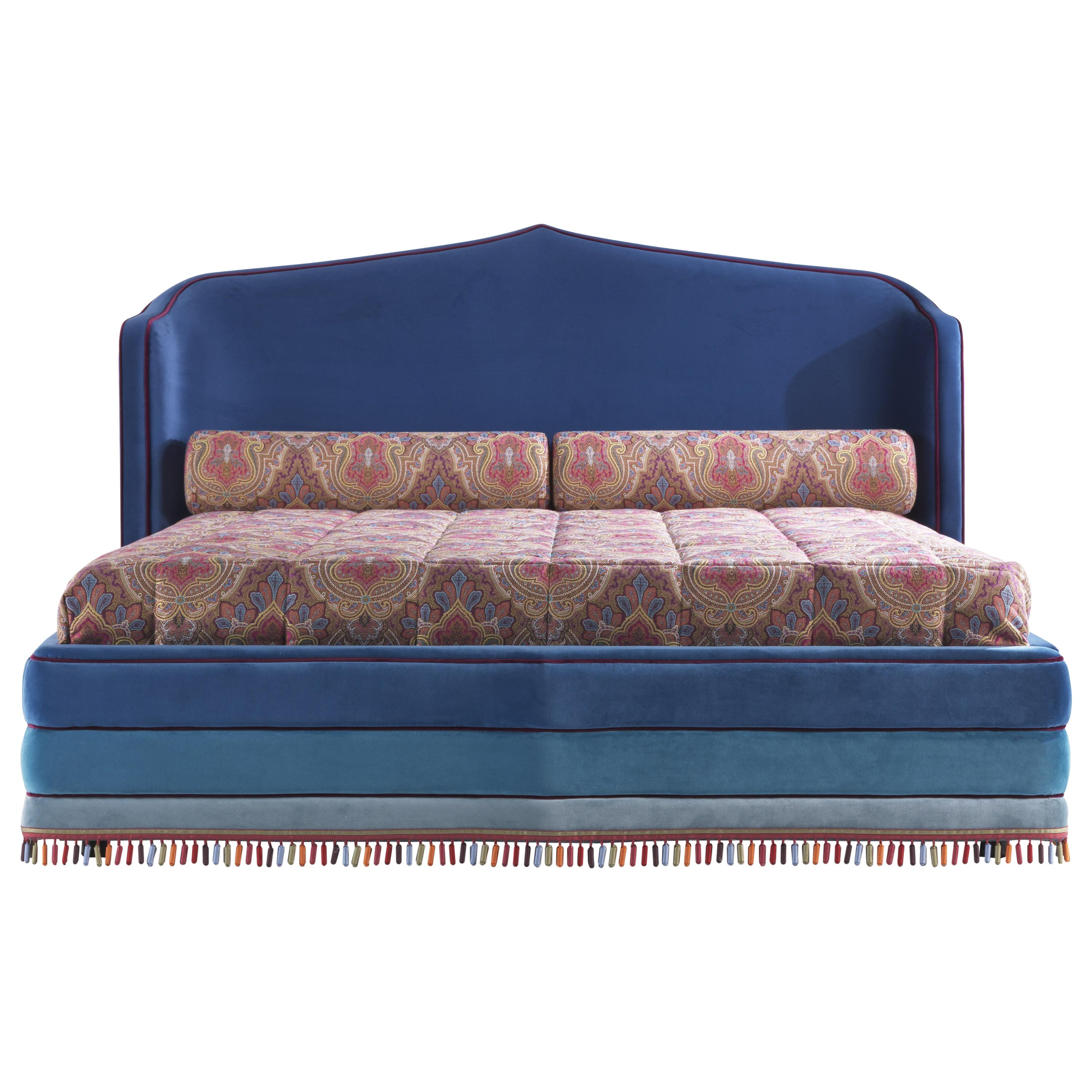 Etro Home Interiors Amina Large Bed in Velvet