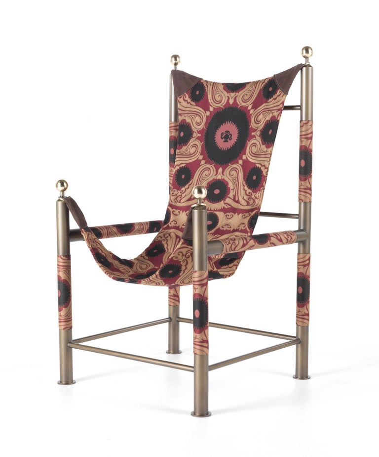 """The iconic piece, part of the """"Nomadic Story"""", inspired by travels in India and Western Asia, in which the power of symbolic language is expressed through the masterful use of fabrics and of the brand's quintessential pattern, Paisley. The Babel"""