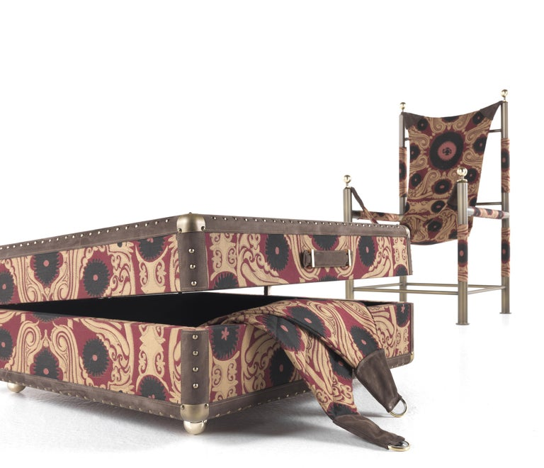 Etro Babel Foldable Travel Chair in Bukhara Fabric and Metal For Sale 3