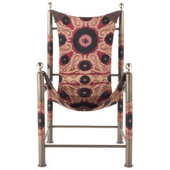 Etro Home Interiors Babel Foldable Travel Chair in Bukhara Fabric and Metal