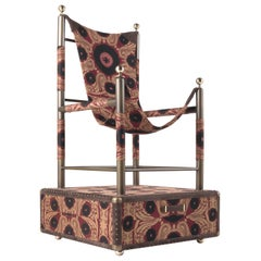 Etro Home Interiors Babel Travel Trunk in Bukhara Fabric and Wood