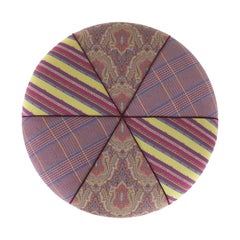 Etro Bambara Pouf in Fabric and Wood