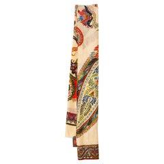 Etro Beige Floral Paisley Print Cashmere Scarf