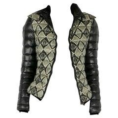 Etro Black Aztec Print Detachable Hood Detail Puffer Jacket M
