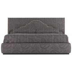 Etro Bombay Bed in Wood and Dark Paisley