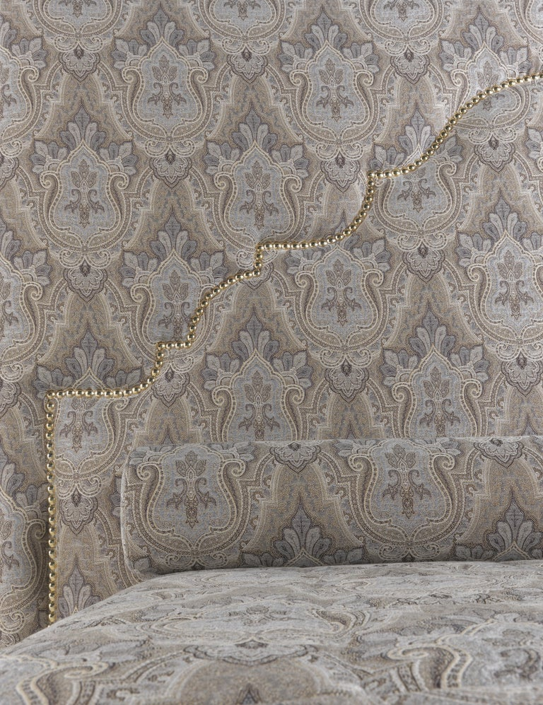 Etro Bombay Bed in Wood and Light Paisley For Sale 1