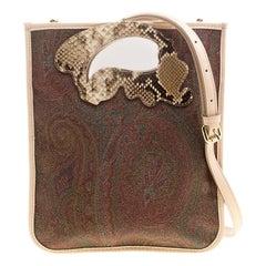 Etro Brown/Beige Paisley Coated Canvas Crossbody Bag