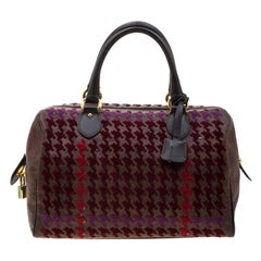 Etro Brown Paisley Printed Coated Canvas Sequins Boston Bag
