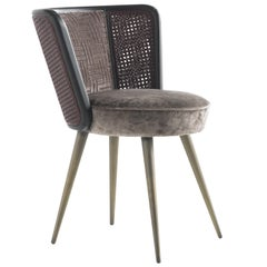 Etro Caral Chair in Velvet and Wood