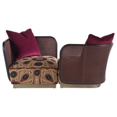 Etro Caral Pair of Armchairs in Wood and Fabric