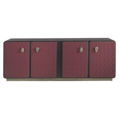 Etro Caral Sideboard in Wood and Leather