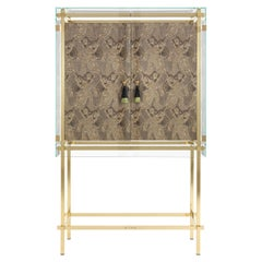 Etro Delhi Cabinet in Wood and Polished Brass