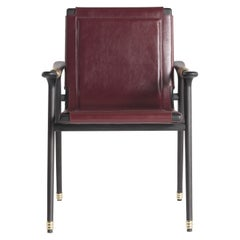 Etro Home Interiors Dinka Chair with arms in Leather