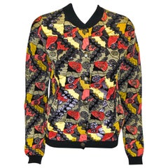 Etro Floral Patterned Bomber Jacket With Paillette Embroidery 42