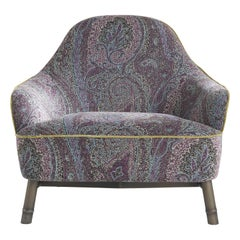 Etro Home Interiors Frida Armchair in Fabric and Metal