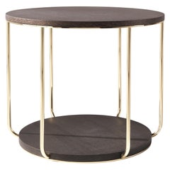 Etro Home Interiors Ambar Side Table in Carbalho Wood