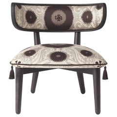 Etro Home Interiors Shah Small Armchair in Fabric