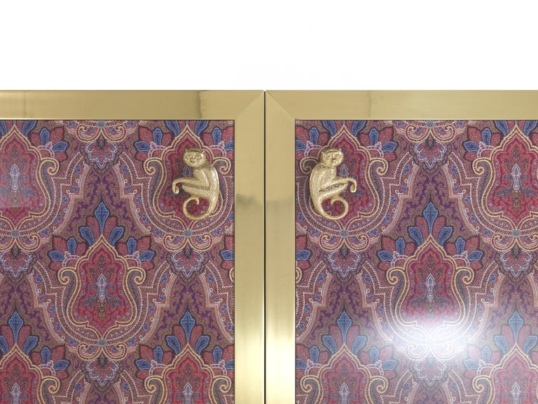 Etro Janis Cabinet in Wood and Polished Brass For Sale 7