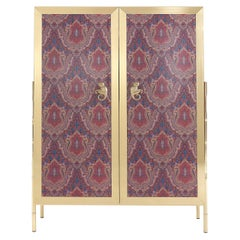 Etro Janis Cabinet in Wood and Polished Brass