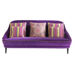 Etro Home Interiors Jefferson 2-Seater Sofa in Wood and Velvet