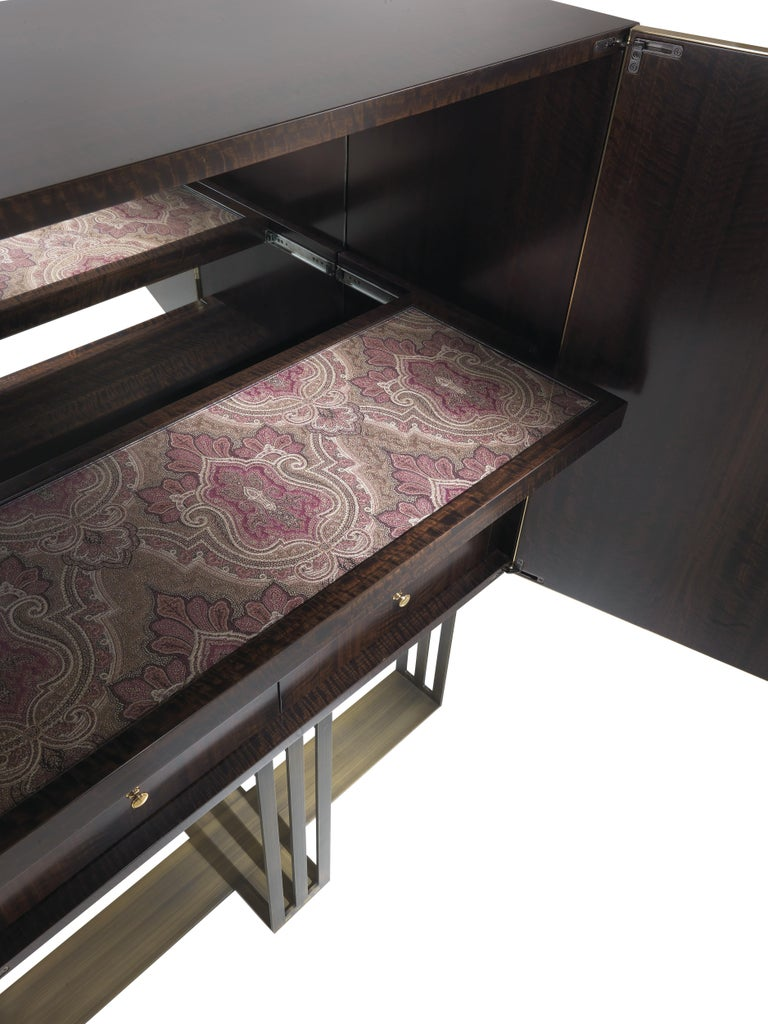 Etro Klee Bar Unit in Wood and Metal In New Condition For Sale In Cantu, IT