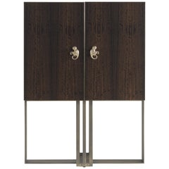 Etro Home Interiors Klee Bar Unit in Wood and Metal