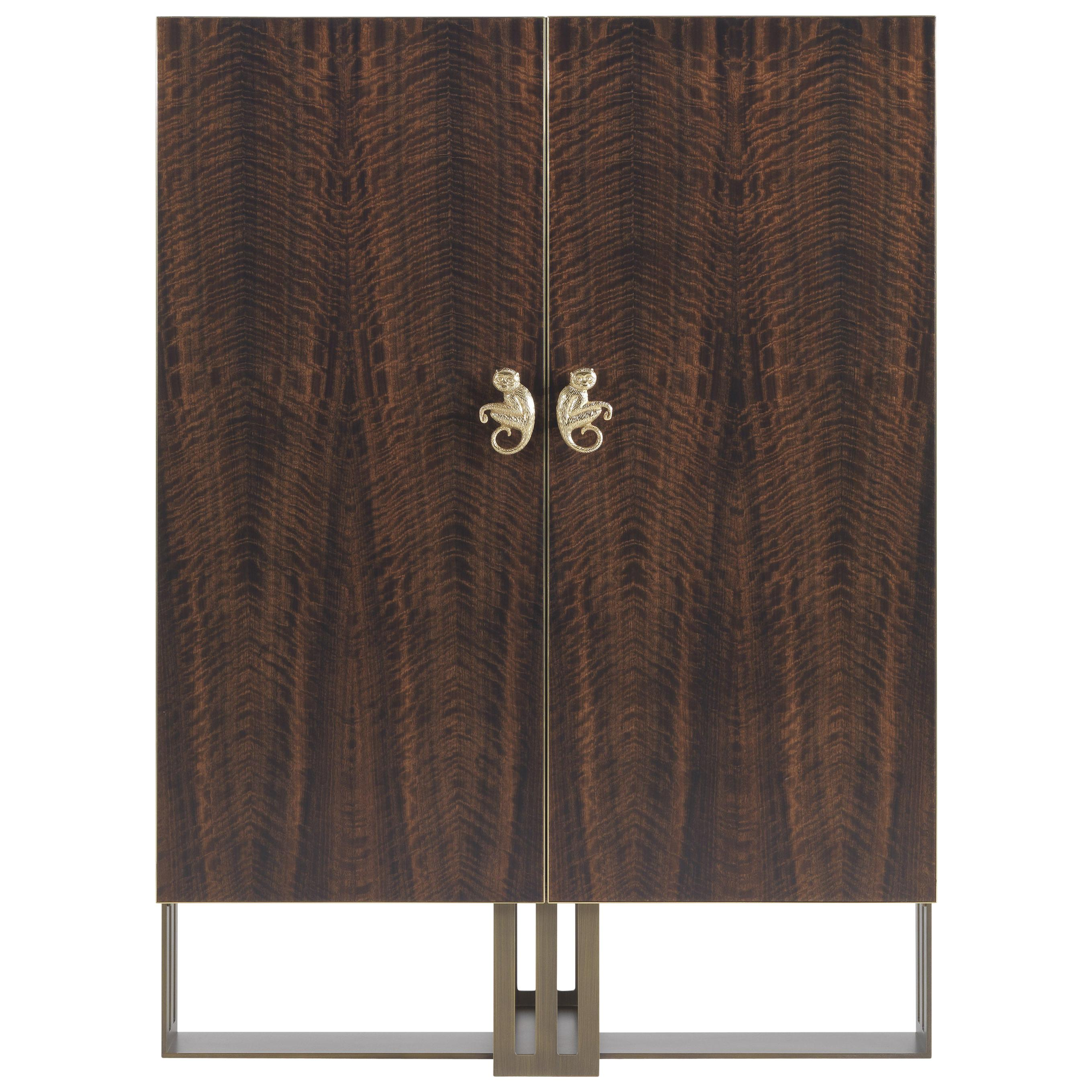 Etro Home Interiors Klee Cabinet in Wood and Metal