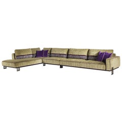 Etro Home Interiors Klee Modular Sofa in Fabric and Metal