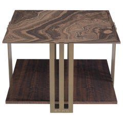 Etro Home Interiors Klee Small Table in Metal and Marble