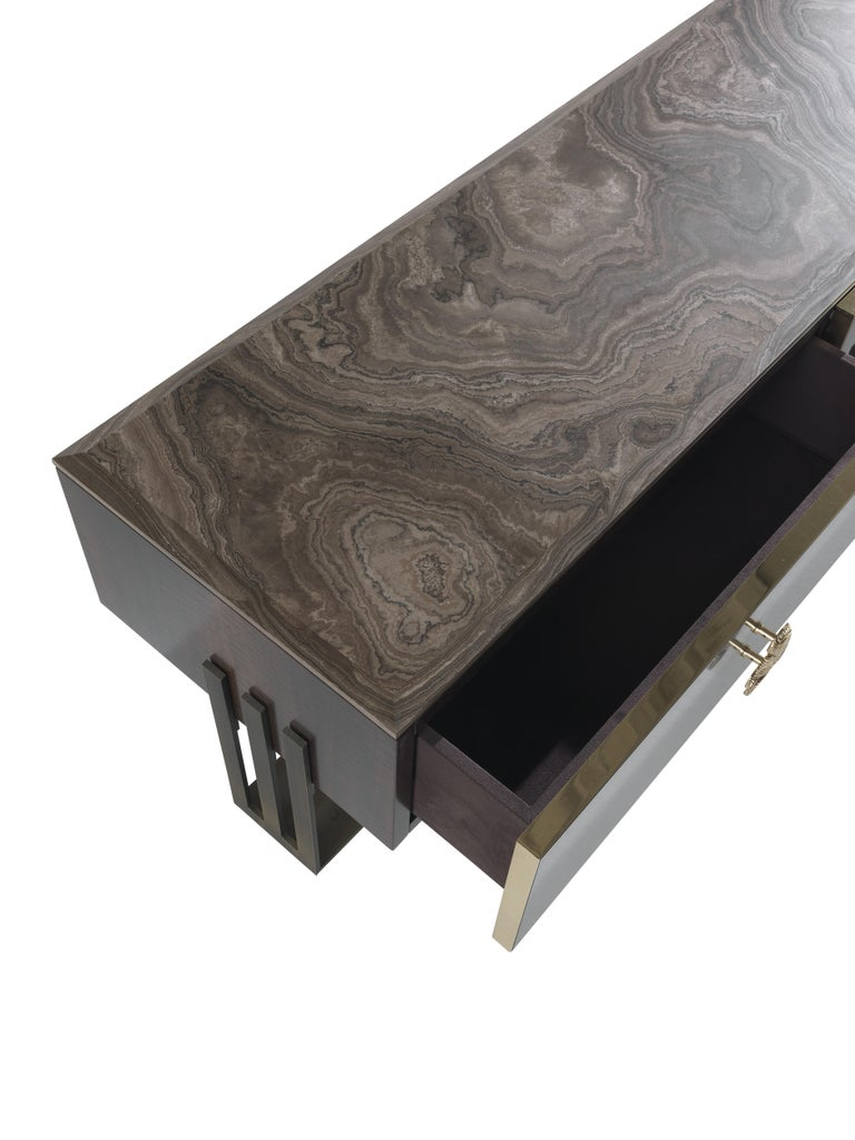 Etro Klee TV Holders in Wood and Metal For Sale 1