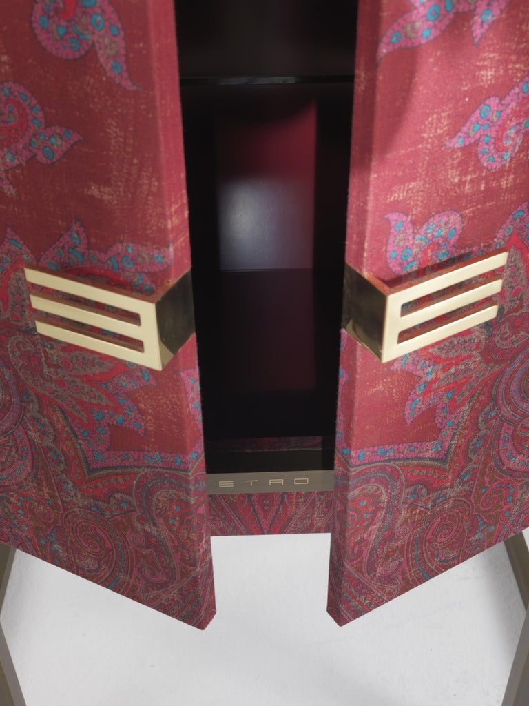 Etro Kolkata Cabinet in Wood and Metal For Sale 4