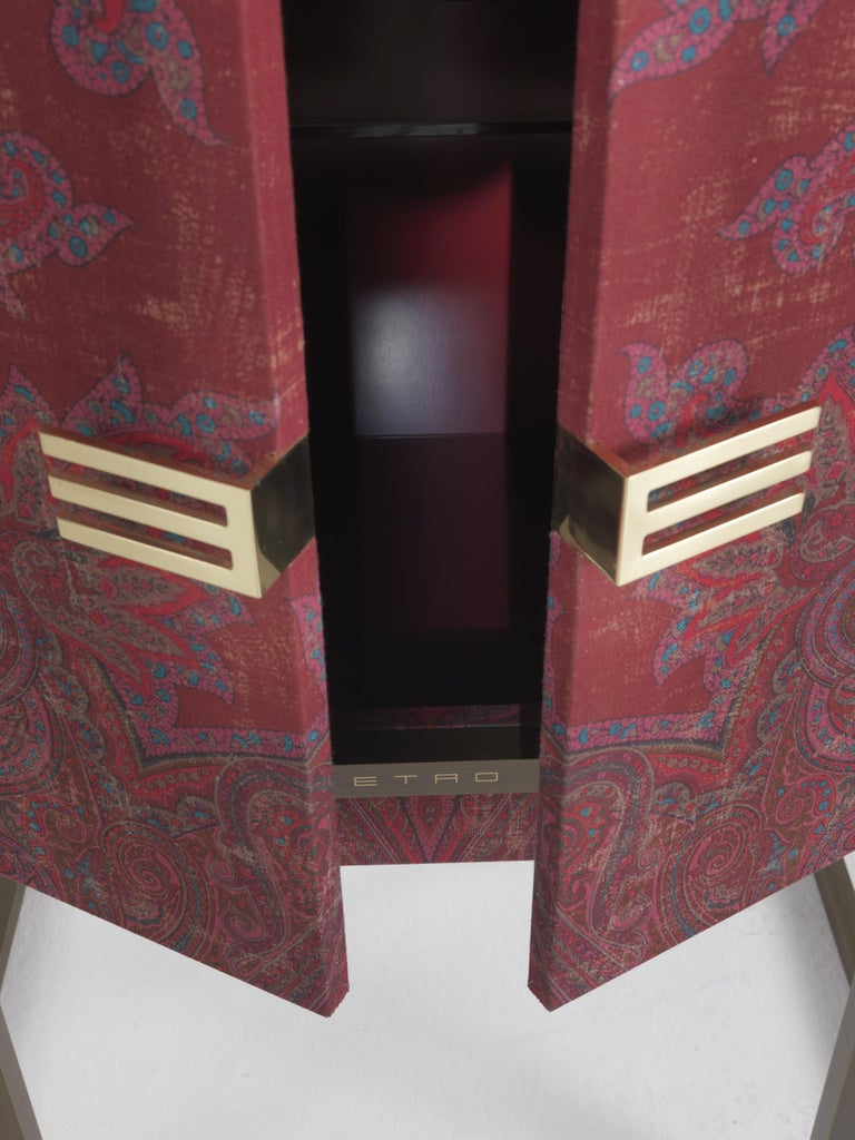 Etro Kolkata Cabinet in Wood and Metal For Sale 5
