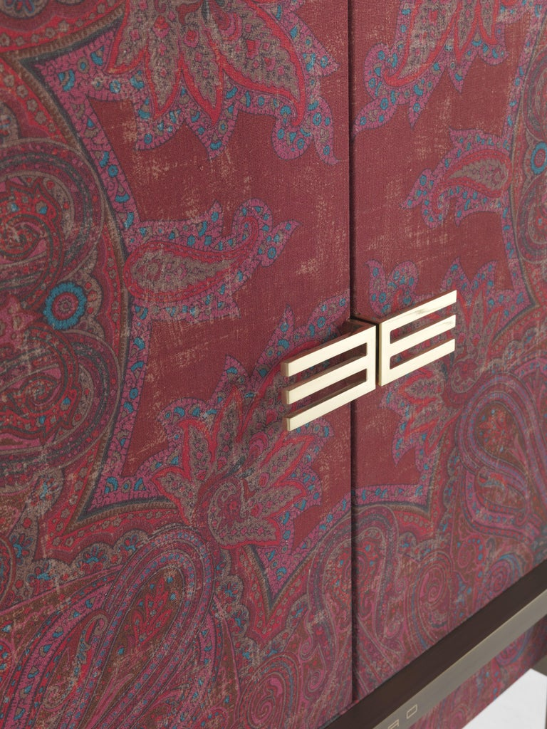 Contemporary Etro Kolkata Cabinet in Wood and Metal For Sale