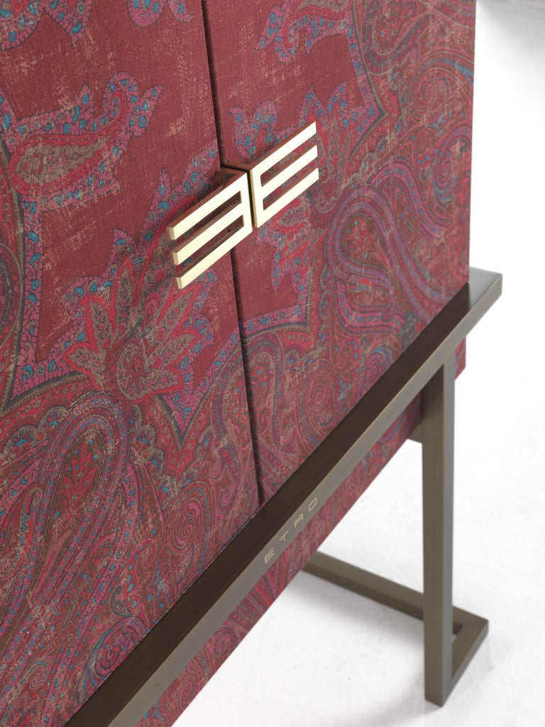 Etro Kolkata Cabinet in Wood and Metal For Sale 1
