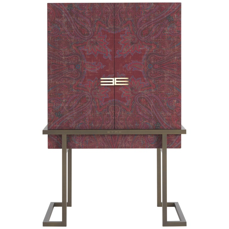 Etro Kolkata Cabinet in Wood and Metal For Sale