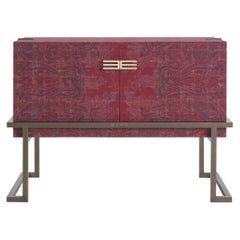 Etro Kolkata Sideboard with 2 Doors in Metal and Wood