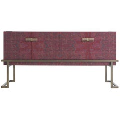 Etro Kolkata Sideboard with 4 Doors in Metal and Wood