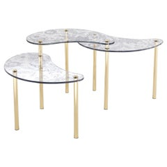 Etro Krishna Small Table in Glass and Brass