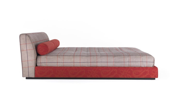 Modern Etro Masada Bed in Wood and Fabric For Sale