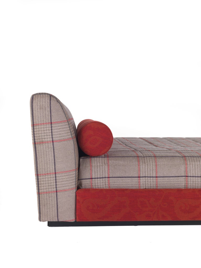 Italian Etro Masada Bed in Wood and Fabric For Sale