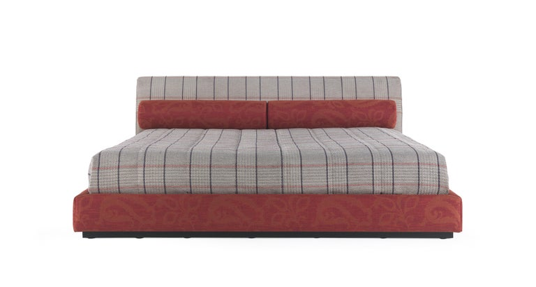 Velvet Etro Masada Bed in Wood and Fabric For Sale