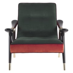 Etro Masai Armchair in Velvet and Wood