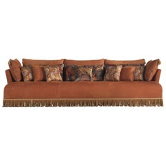 Etro Home Interiors Mauritania 3-Seater Sofa in Wood and Leather