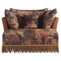 Etro Mauritania Armchair in Leather and Wood