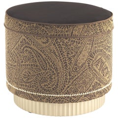 Etro Home Interiors Meriam Pouf in Dark Paisley